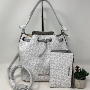 Michael Kors Eden Medium Bucket Bag and Wallet